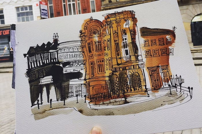 Manchester in pictures: meet the urban illustrator sketching her way round Manchester I Love Manchester