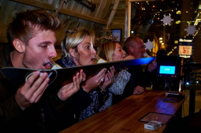 Christmas karaoke lodges are coming back as Bar Hutte returns to Manchester for festive period I Love Manchester