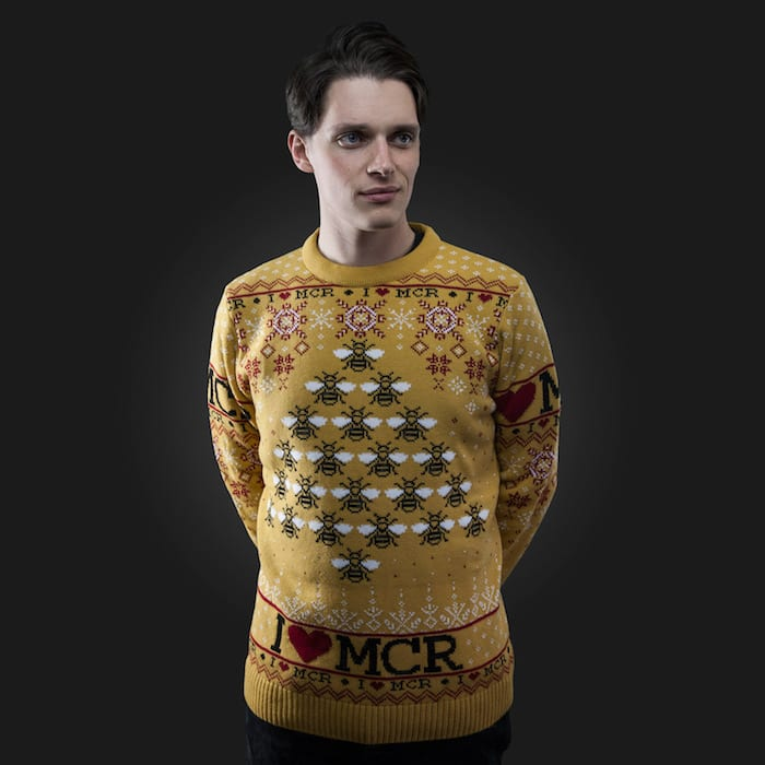 Christmas present problems solved: introducing the I Love MCR charity Christmas jumper I Love Manchester
