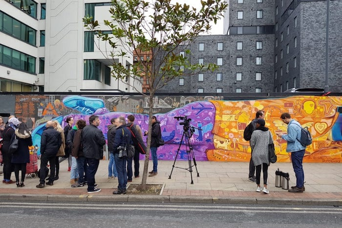 40 homeless people, a New York street artist and two local creatives create a massive Manchester mural I Love Manchester