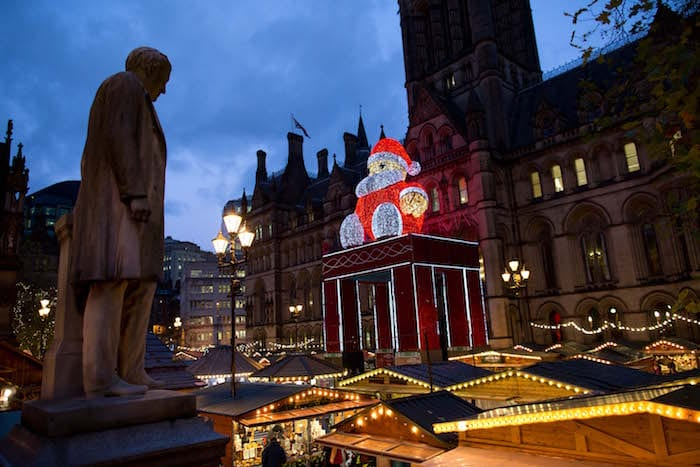 Manchester's six-tonne Santa returns to Albert Square for the last time I Love Manchester