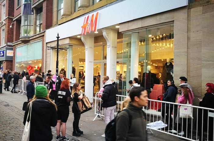 Fashion frenzy on Market Street as H&M launches Moschino collection I Love Manchester