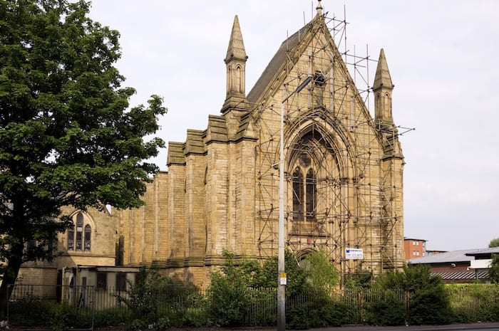 Historic church where Mrs Pankhurst was married at risk because of roof damage I Love Manchester