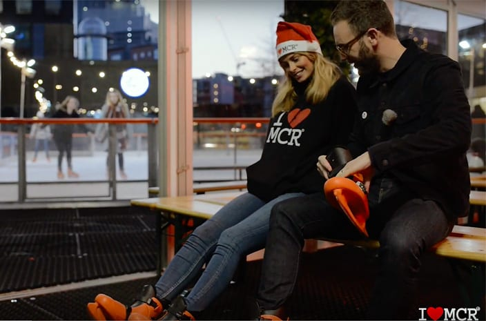 Dancing on Ice or Bambi on ice? Get your skates on and head to Manchester Ice Rink on First Street I Love Manchester