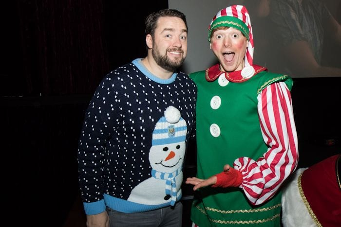 Jason Manford hosts Stockport premiere of Daisy and Ollie Christmas special starring Gary Barlow I Love Manchester