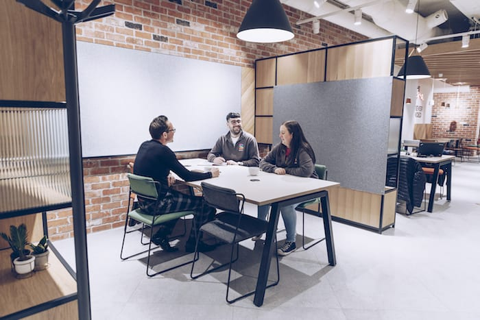 Inside Manchester's first banking and creative hub offering free co-working spaces, a media studio - and yoga! I Love Manchester