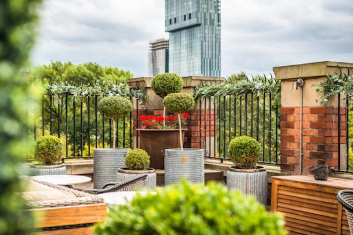 Roof Terrace Great John Street eclectic hotels