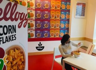 Kelloggs cafe with Georgia May Foote