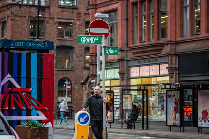Manchester becomes New York for Hollywood movie Morbius starring Jared Leto - photos from the Northern Quarter