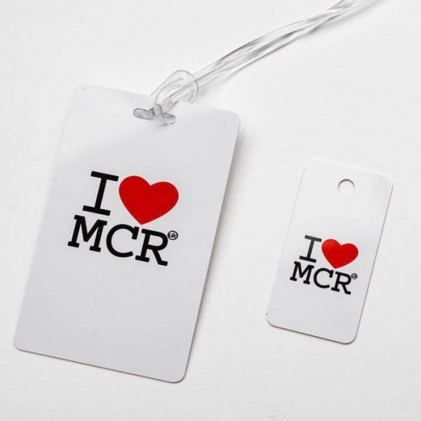 I Love MCR Smart Luggage Tag with Smart Key Tag I Love Manchester