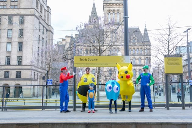 Mario and Luigi, Pikachu and more spotted wreaking havoc on the Metrolink - but why? I Love Manchester