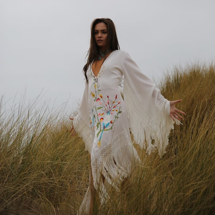 Stevie white fringed dress The Wild