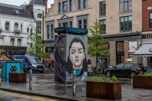 Game of Thrones' Arya Stark appears on giant mural in Manchester's Northern Quarter I Love Manchester