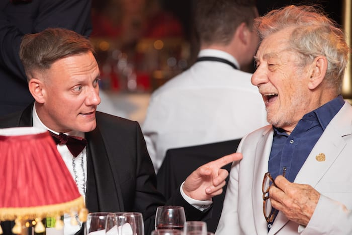 Antony Cotton and Sir Ian McKellen