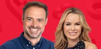 Jamie Theakston and Amanda Holden at Heart Radio