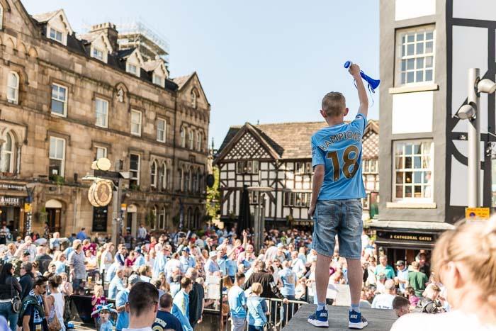 Manchester City victory celebrations