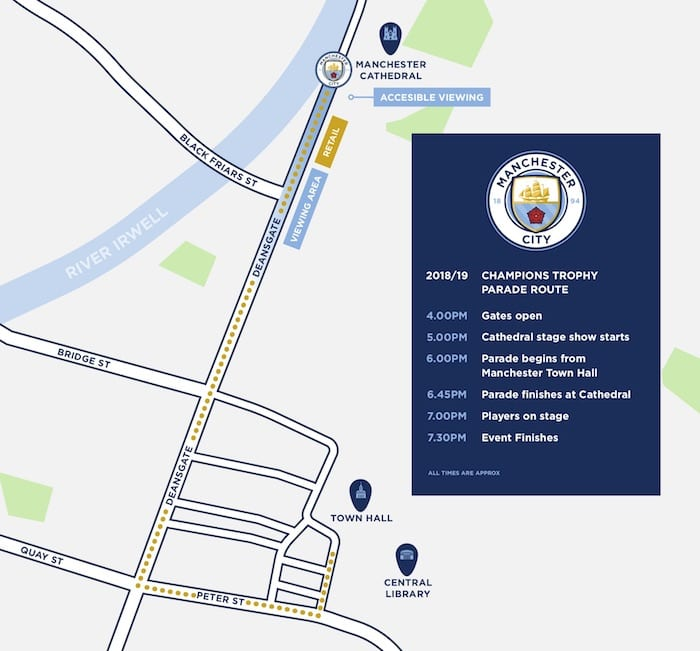 Manchester City parade route