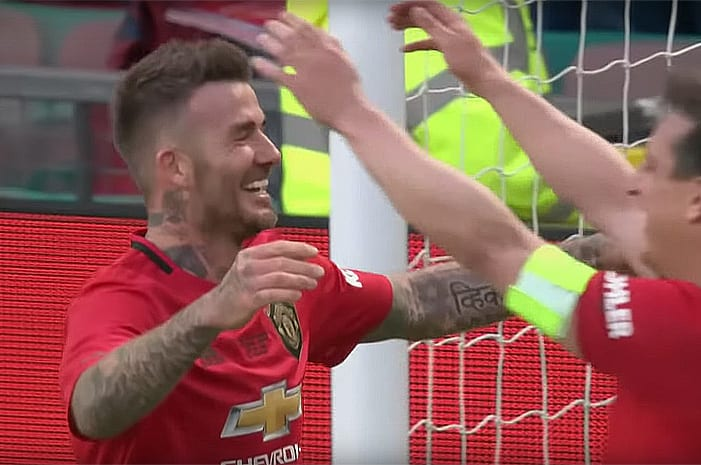 Beckham and Scholes playing like it's 1999 for Treble reunion shows the way for Ole and Man United I Love Manchester