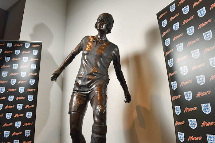First female footballer statue unveiled in Manchester at National Football Museum I Love Manchester