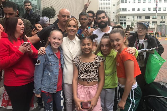 Watch these young Spice Girls fans surprise Geri Horner with a brilliant dance outside The Lowry Hotel I Love Manchester