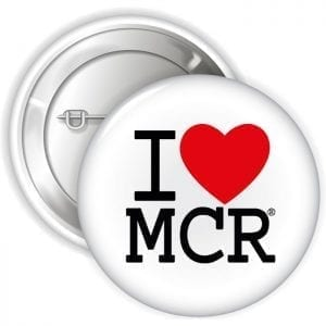 I Love MCR Badge I Love Manchester
