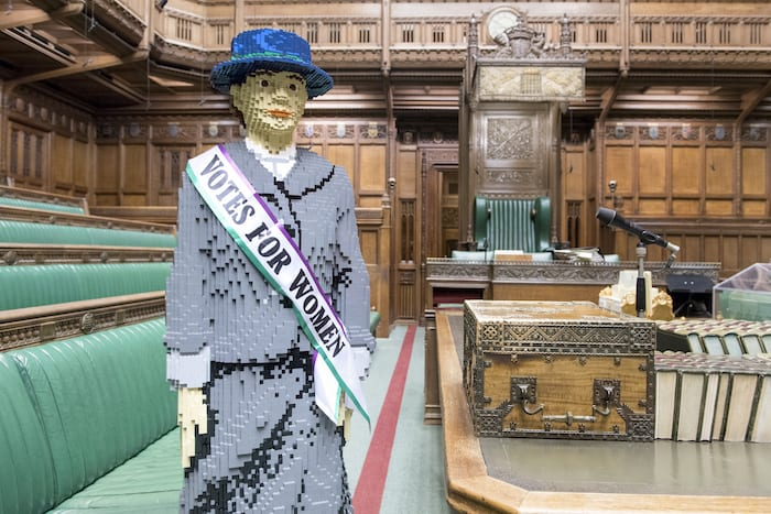A life-sized LEGO suffragette is coming to Manchester on Emmeline Pankhurst's birthday I Love Manchester