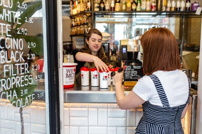 Sustainable coffee cup campaign raises over £2k for Manchester charity I Love Manchester
