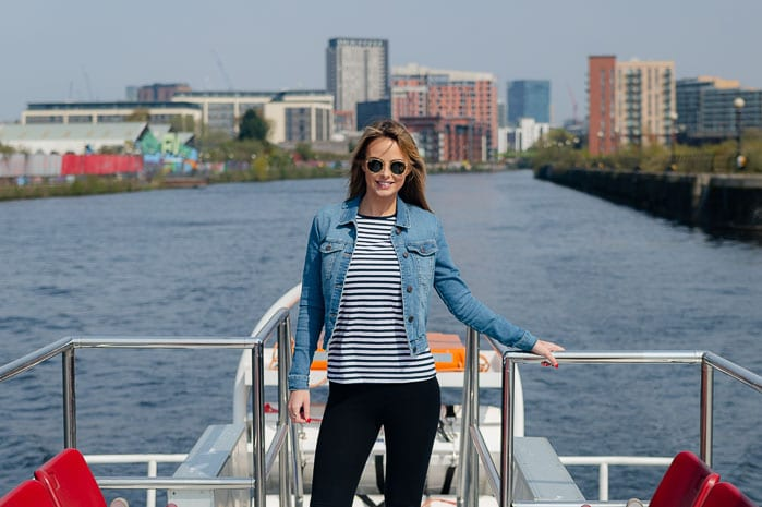 Enjoy the glorious weather and stunning views on a Manchester river