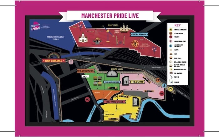 First look as Mayfield transformed for Manchester Pride Live where Ariana Grande will headline I Love Manchester