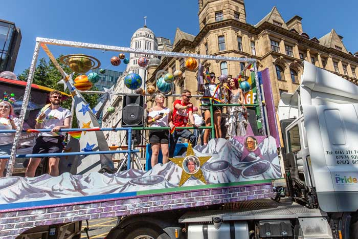 Corrie stars go deep space for epic Manchester Pride parade float I Love Manchester