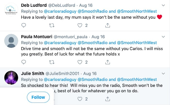 Carlos leaves Smooth Radio in latest Manchester radio shake-up as Drive show goes national I Love Manchester