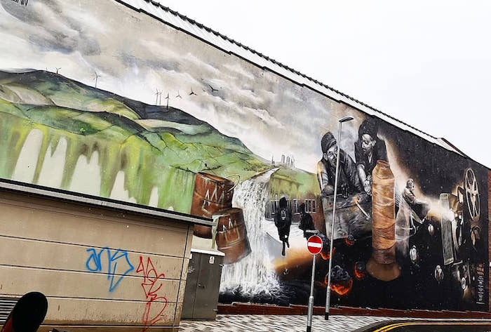 Rochdale's giant street art murals and the fascinating stories behind them I Love Manchester