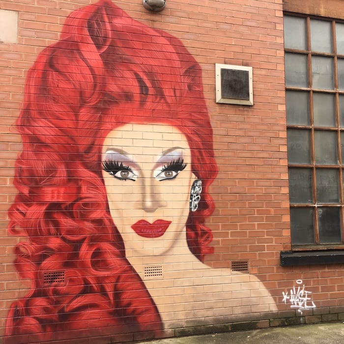 Mural of RuPaul Drag Race UK star Divina De Campo appears in Manchester's Gay Village I Love Manchester