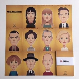 Great Northerners Postcard Set By Stanley Chow I Love Manchester