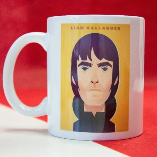 Liam Gallagher Mug designed by Stanley Chow I Love Manchester