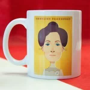 Emmeline Pankhurst Mug Designed by Stanley Chow I Love Manchester