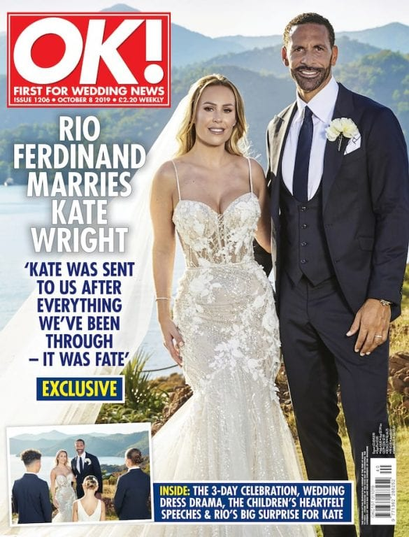 Man United legend Rio Ferdinand marries Kate Wright in fairytale wedding - first pictures I Love Manchester