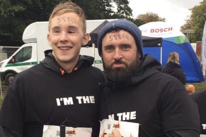 A blind Stockport man is taking on the Tough Mudder challenge – not once but TWICE