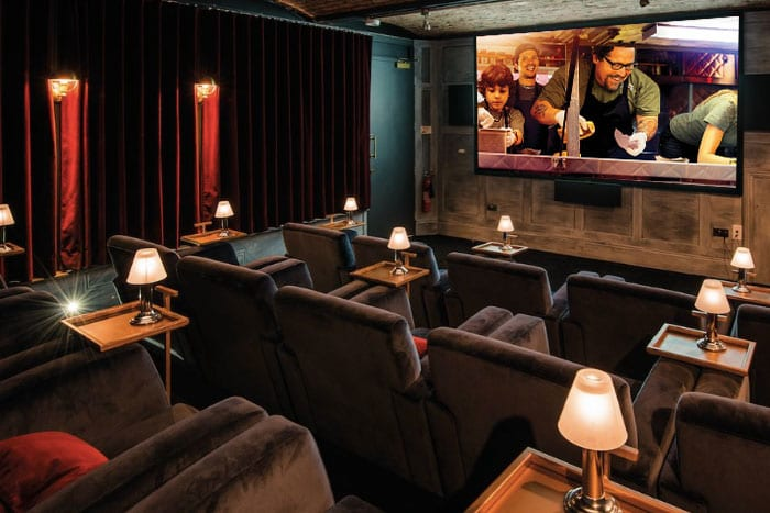 Catch your favourite foodie flicks in this luxury private cinema - with a two-course meal included I Love Manchester