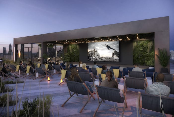 rooftop cinema Blackfriars house