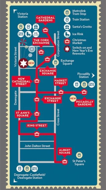 Christmas Markets map