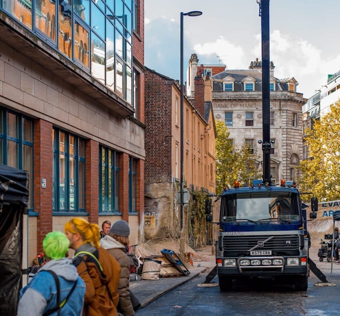 The Northern Quarter goes Intergalactic for filming of new Sky drama I Love Manchester