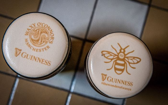 Get a pint of Guinness with your face on it at this Manchester pub I Love Manchester