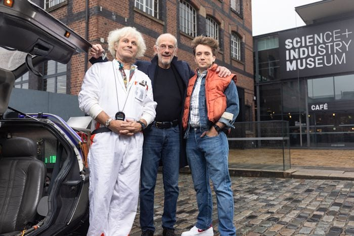 DeLorean time machine comes to Manchester ahead of Back to the Future The Musical world premiere I Love Manchester