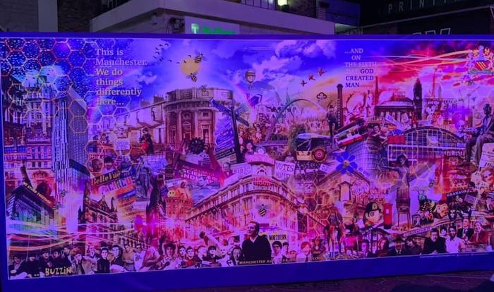 Huge Manchester mural unveiled at The Printworks - can you spot all the famous Mancunians? I Love Manchester