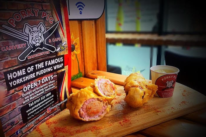 deep-fried pigs in blankets at Porky Pig