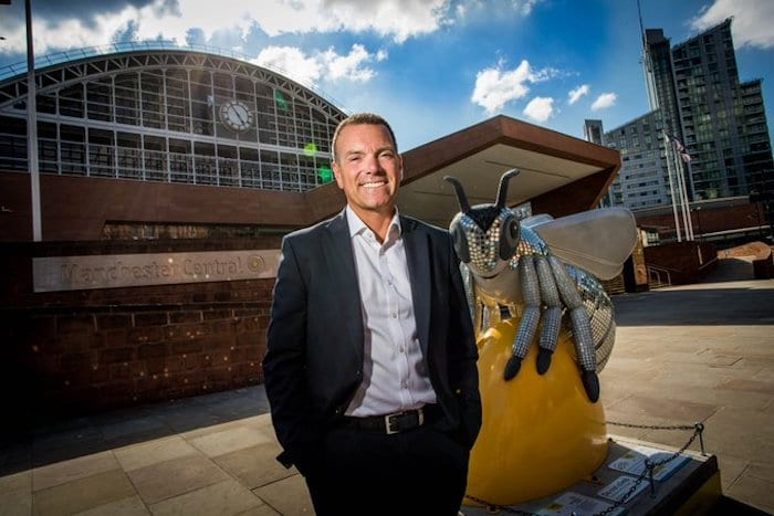 Worker Bee: Shaun Hinds, chief executive of Manchester Central I Love Manchester