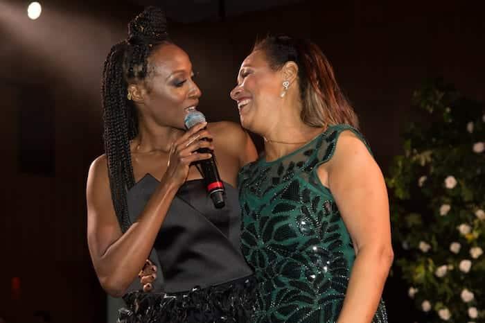 Victoria Ekanoye and mum Candy