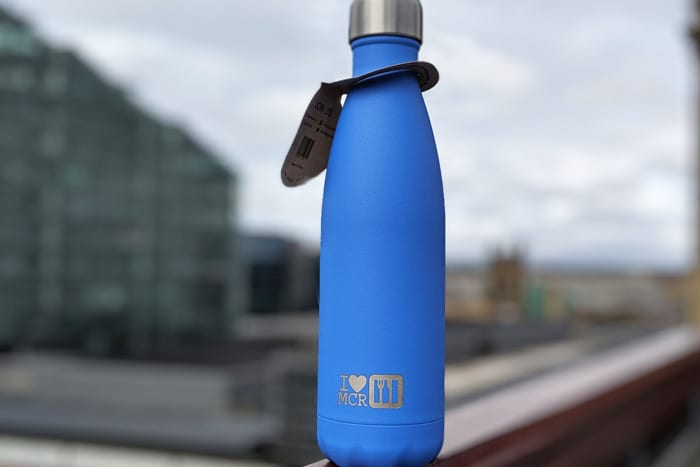 Help Manchester become the most refillable city by using this cool new water bottle I Love Manchester
