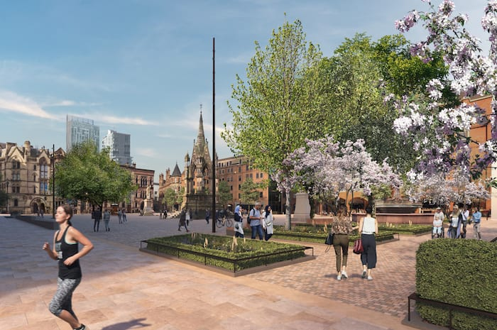 How Manchester's Albert Square will look after huge redevelopment - including pedestrianised roads I Love Manchester
